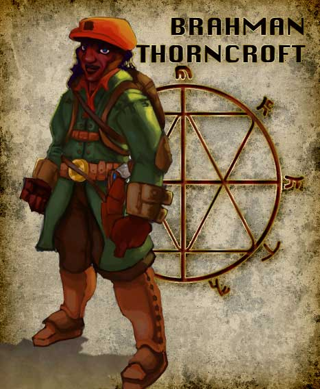 BRAHMAN THORNCROFT – An ex-member of MOSEAC, a Bio-Contriver for the ministry of science and an expert in the first piller of the Art of Adaptability – Torqueblade Torsion Training. The system of which had been inspired by The Uniter of Torqueadia, the pariyah Derwyn Dinas Llew, who became Derwyn Pen Llew the founder of the Grey Branch. Brahman, A witness to the murder of his colleagues and hunted by the Pathfinders, the militant arm of the church the known as the Black Branch. What do they fear he knows, why must they silence him?