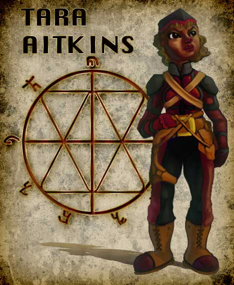 TARA AITKINS, The youngest Knight Provost in the military regulators, sequestered by the Pathfinders of the church to track down ecclesiastical conspirators. Sceptical, she carry's out her duties and discovers that not all truths are absolute.
